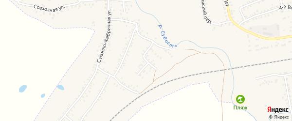 5-й Суконно-Фабричный переулок на карте Почепа с номерами домов