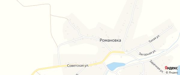 Партизанская улица на карте деревни Романовки с номерами домов