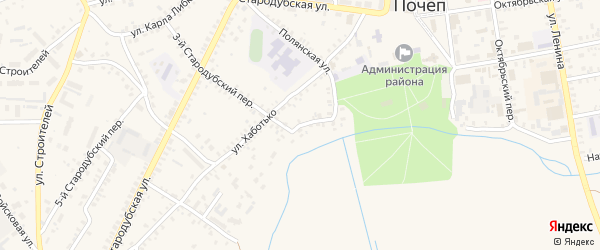 Полянский переулок на карте Почепа с номерами домов