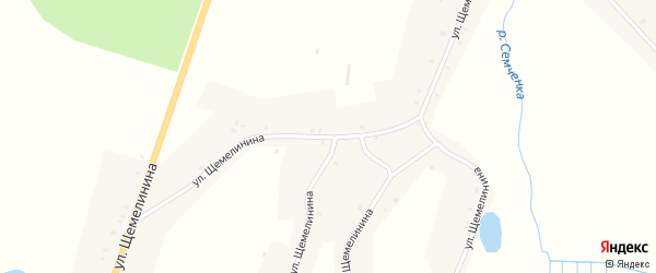 Улица Щемелинина на карте села Семцев с номерами домов
