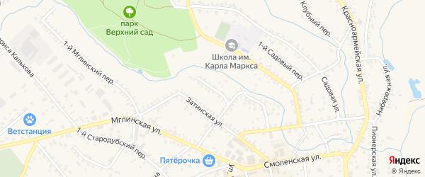 Улица Карла Маркса на карте Почепа с номерами домов