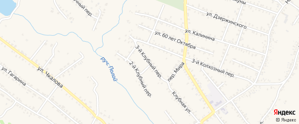 3-й Клубный переулок на карте Почепа с номерами домов