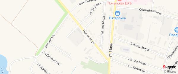 Полевая улица на карте Почепа с номерами домов