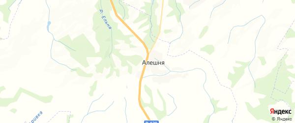 Карта территории Алешинского сельского поселения Брянской области с районами, улицами и номерами домов