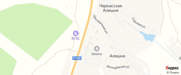 Территория Паи Заря на карте территории Алешинского сельского поселения с номерами домов