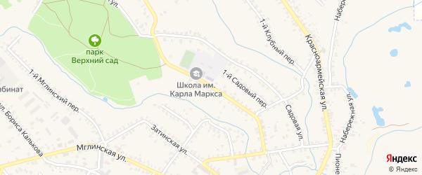 Ново-Затинская улица на карте Почепа с номерами домов