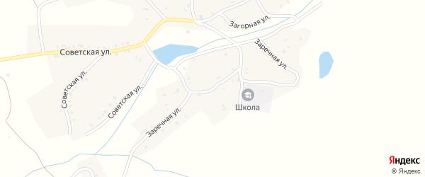 Заречная улица на карте деревни Романовки с номерами домов