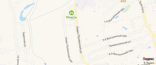 Ново-Полянская улица на карте Почепа с номерами домов