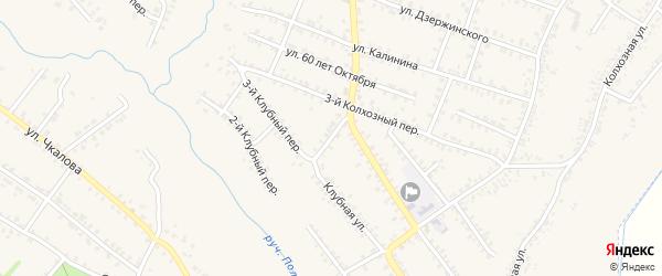 Переулок Мира на карте Почепа с номерами домов