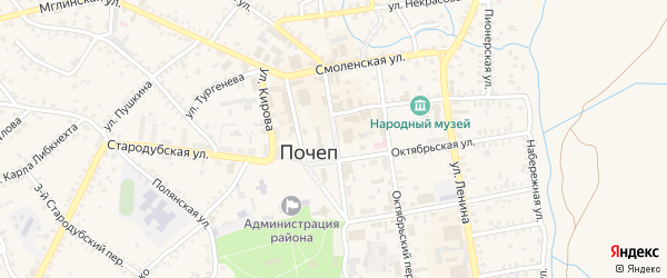 2-й Октябрьский проезд на карте Почепа с номерами домов