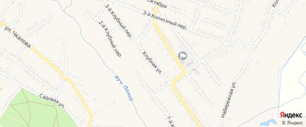 Клубная улица на карте Почепа с номерами домов