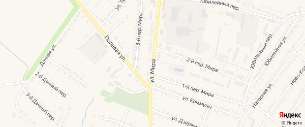 Улица Мира на карте Почепа с номерами домов