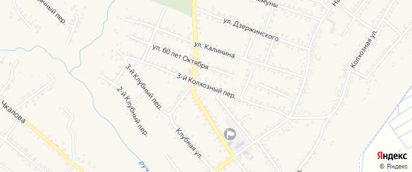 3-й Колхозный переулок на карте Почепа с номерами домов
