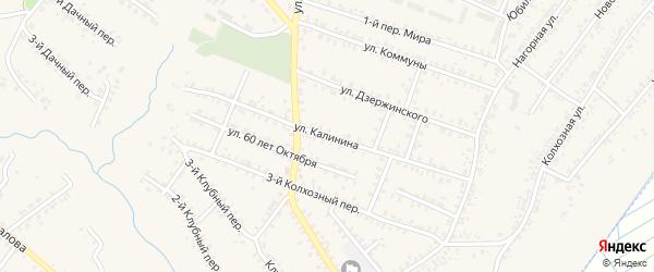 Улица Калинина на карте Почепа с номерами домов