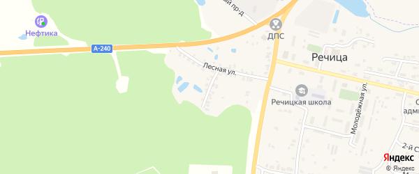 Лесной переулок на карте поселка Речицы с номерами домов