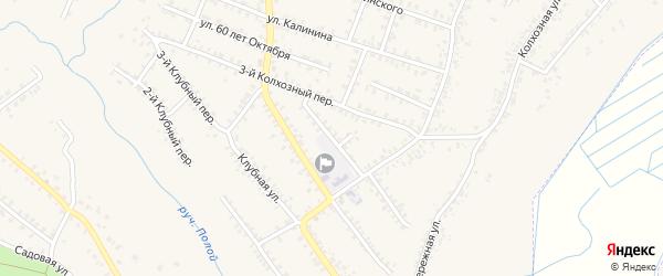 Улица Чапаева на карте Почепа с номерами домов