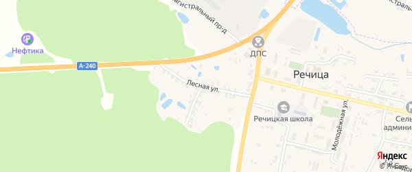 Лесная улица на карте поселка Речицы с номерами домов