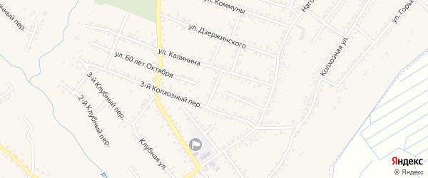 Переулок 2-й Калинина на карте Почепа с номерами домов