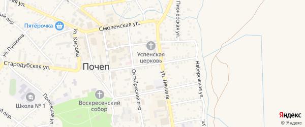 Октябрьская улица на карте Почепа с номерами домов