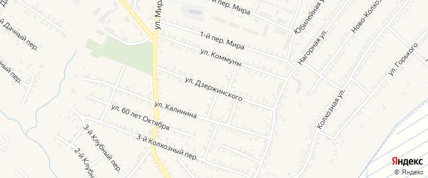Улица Дзержинского на карте Почепа с номерами домов