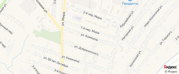 Улица Коммуны на карте Почепа с номерами домов