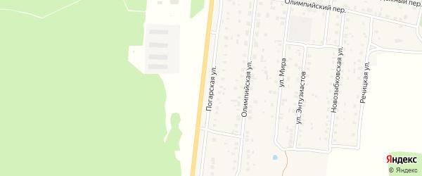 Погарская улица на карте поселка Речицы с номерами домов