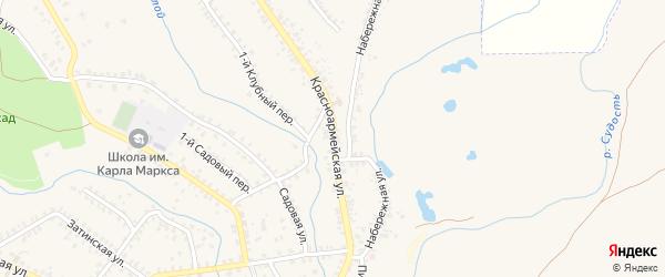 Красноармейская улица на карте Почепа с номерами домов