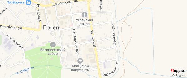 Улица Ленина на карте Почепа с номерами домов