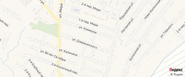Переулок Дзержинского на карте Почепа с номерами домов