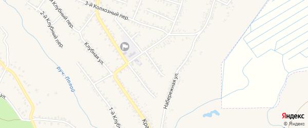 2-й Колхозный переулок на карте Почепа с номерами домов