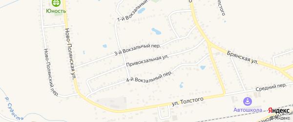 Привокзальная улица на карте станции Паниковки с номерами домов