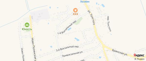 1-й Вокзальный переулок на карте Почепа с номерами домов