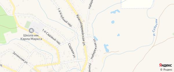 Красноармейский переулок на карте Почепа с номерами домов