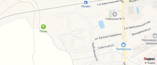 1-й Трубчевский переулок на карте Почепа с номерами домов