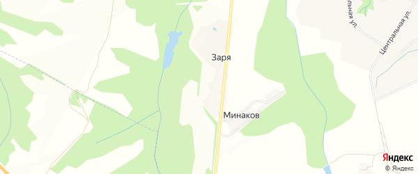 Карта поселка Зари в Брянской области с улицами и номерами домов