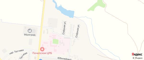 Озерная улица на карте Почепа с номерами домов
