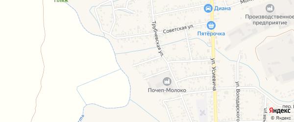 Комсомольский переулок на карте Почепа с номерами домов