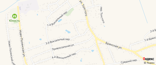 2-й Вокзальный переулок на карте Почепа с номерами домов