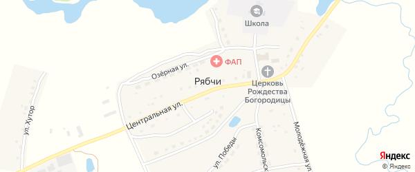 Улица Хутор на карте села Рябчи с номерами домов