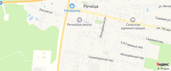 Молодежная улица на карте поселка Речицы с номерами домов