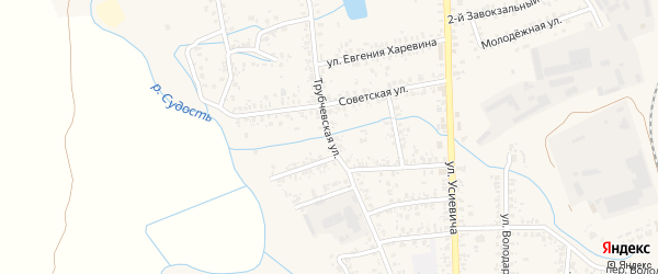 Трубчевская улица на карте Почепа с номерами домов