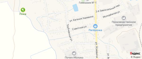 Советская улица на карте Почепа с номерами домов