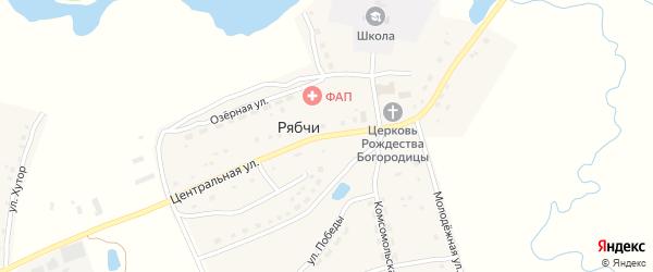 Центральная улица на карте села Рябчи с номерами домов