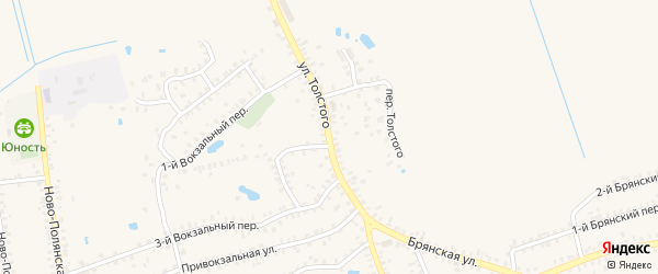 Улица Толстого на карте Почепа с номерами домов