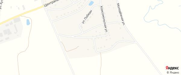 Комсомольский 1-й переулок на карте села Рябчи с номерами домов