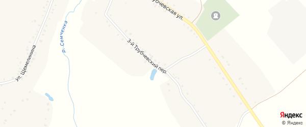 Трубчевский переулок на карте села Семцев с номерами домов
