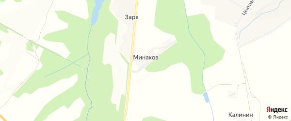 Карта поселка Минакова в Брянской области с улицами и номерами домов