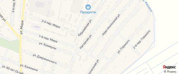 Нагорная улица на карте деревни Лычево с номерами домов