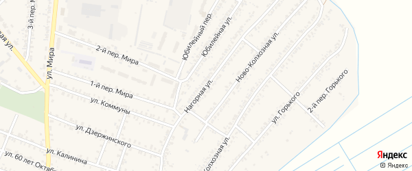 Нагорная улица на карте деревни Муравки с номерами домов