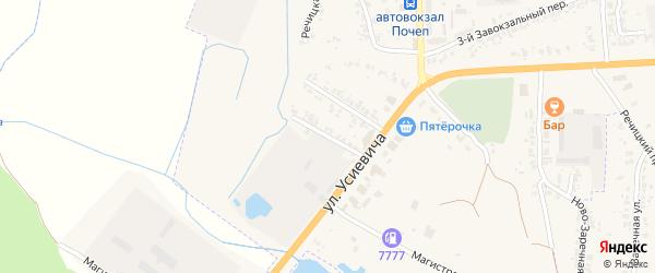 1-й Почепский переулок на карте Почепа с номерами домов